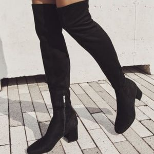New Marc Fisher Rossa black over the knee boot 8.5